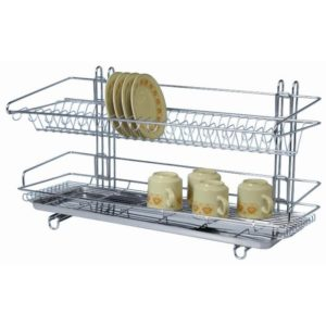 Free Standing Two Tier Dish Rack-L525 x W300 x H350 mm